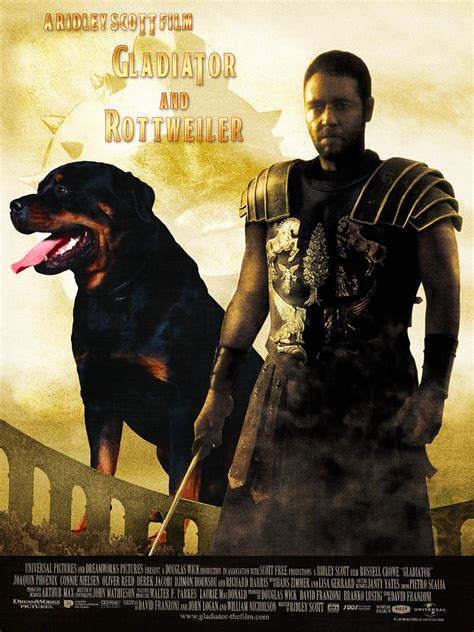 gladiator rottweiler rottweiler canvas print gladiator poster painting by sij