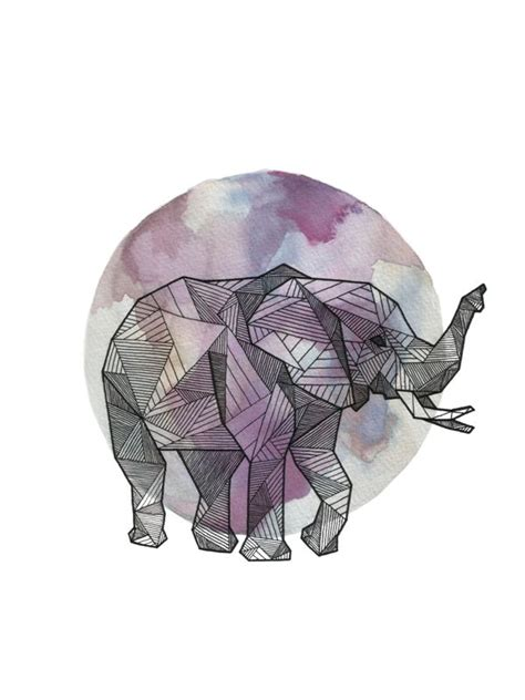 tattoo elephant geometric geometric elephant tattoos pinterest
