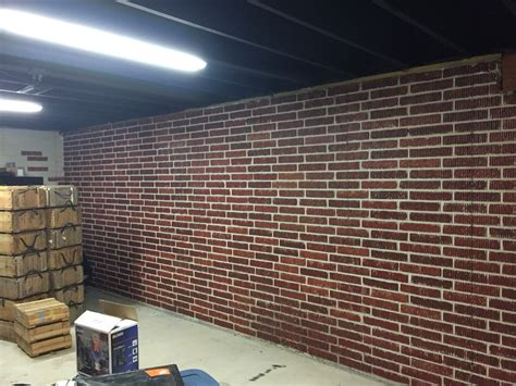 poured basement painted to look like brick basement painted brick form poured concrete basement walls with