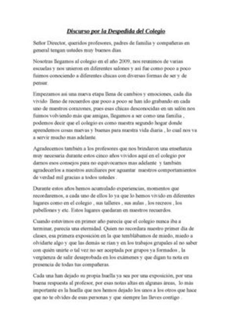 Discurso De Despeida Del Cole Gio | calam 233 o discurso por la despedida del colegio