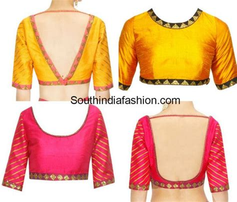 simple pattern for blouse simple blouse designs with borders simple blouse designs