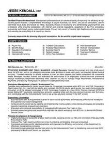 Payroll Officer Sle Resume by Payroll Manager Resume Objective
