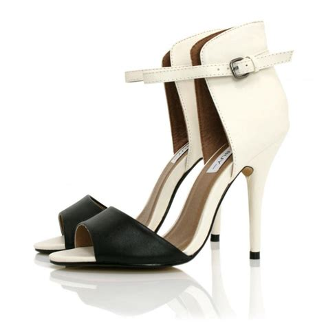 buy heythere heeled sandal shoes white black leather