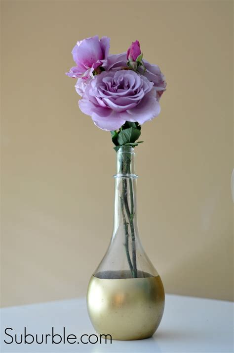 Spray Painted Vases by Diy Gold Dipped Vase Live Creatively Inspired