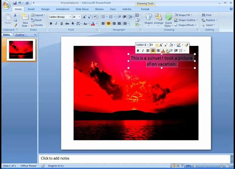 Add Image On Top Of Image office 2007 demo add text on top of a photo