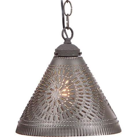Punched Tin Pendant Light Punched Tin Pendant Shade Light Handcrafted Chisel Pattern Hanging Cei Saving Shepherd