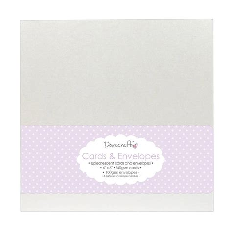 6x6 card envelope template dovecraft 8 pearlescent 6x6 cards envelopes dcce006