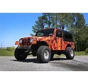 Jeep Orange Camo Full Wrap  Car City