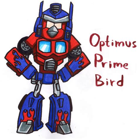 How To Draw Optimus Prime Bird optimus prime bird by youcandrawit on deviantart