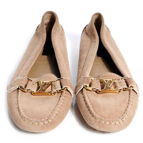 louis vuitton loafers womens louis vuitton womens suede oxford loafers 37 beige 70167