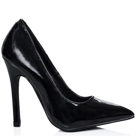 buy liina heeled pointed toe court shoes black patent
