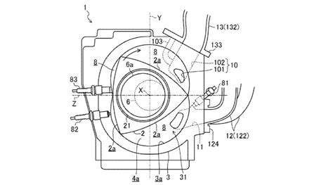 wankel rotary engine diagram mazda has patented its future new wankel engine possibly