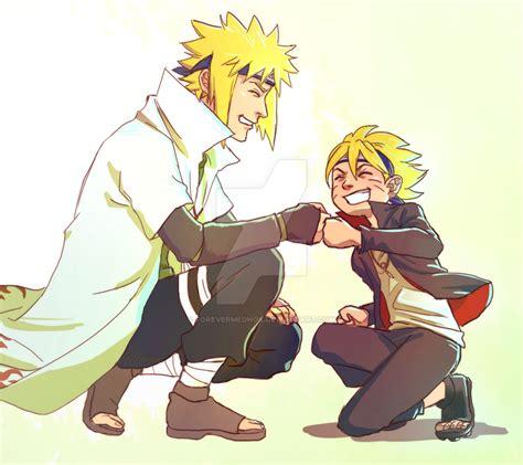 boruto bertemu minato minato and his grandson boruto by forevermedhok on deviantart
