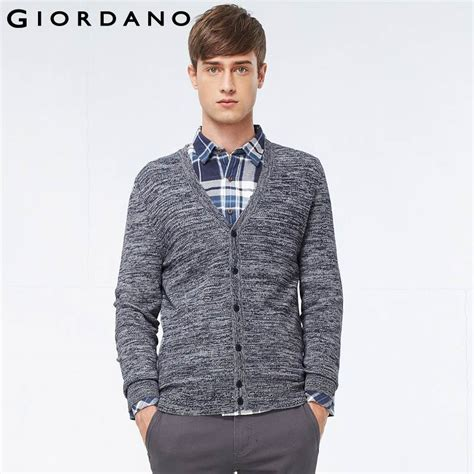 Cardigan Giordano upscale for cardigan sweater casual kintwear sleeve giordano v neck jacquard