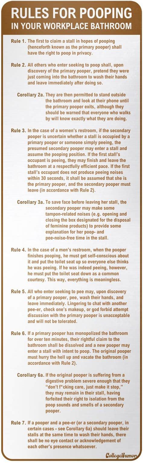work bathroom rules pinterest the world s catalog of ideas