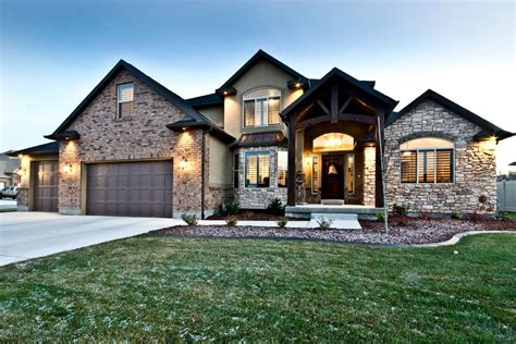 two story home the christopher custom home plans from utah county builders