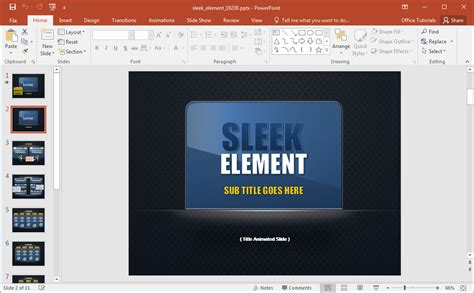 free design elements for powerpoint animated sleek design powerpoint template