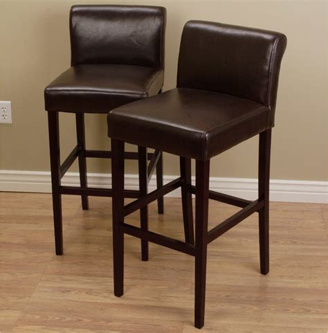 counter and bar stools cosmopolitan dark brown leather counter stools set of 2