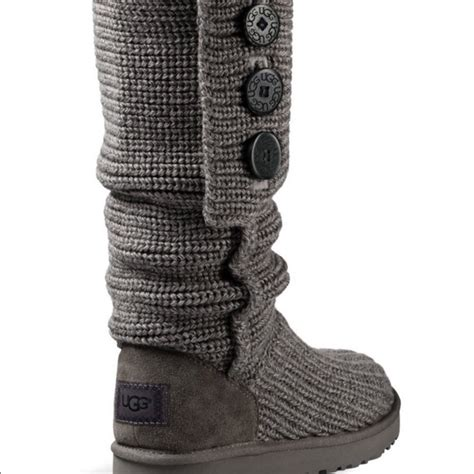 ugg knit boots with buttons 60 ugg shoes ugg 174 classic cardy button detailed
