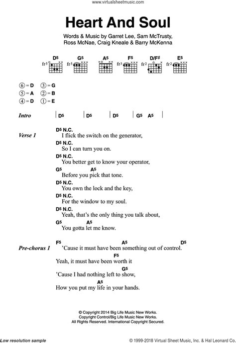 heart and soul atlantic heart and soul sheet music for guitar chords