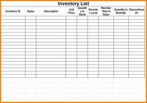7 inventory sheet budget template