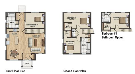 family floor plan modern single family home plans