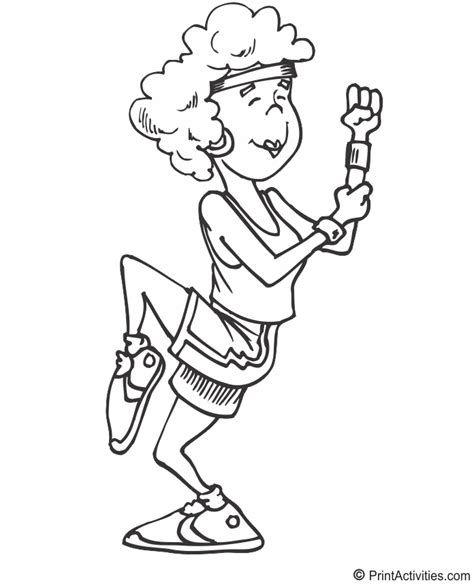 free coloring pages of kids fitness