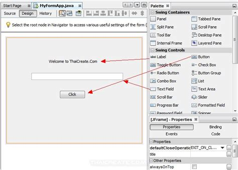 naming pattern in java beans computer2know netbeans สร าง java gui และการสร าง event