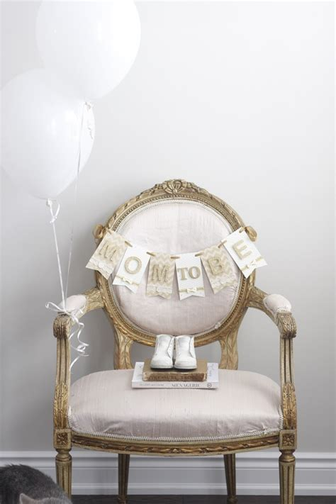Mom to be chair banner for baby shower heirloom keepsakes