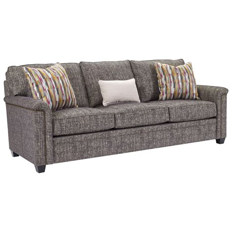 broyhill floral sofa with wood trim broyhill furniture warren sofa with nailhead trim accents