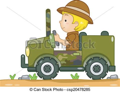 safari jeep clipart vecteur de jeep safari illustration de a boy dans