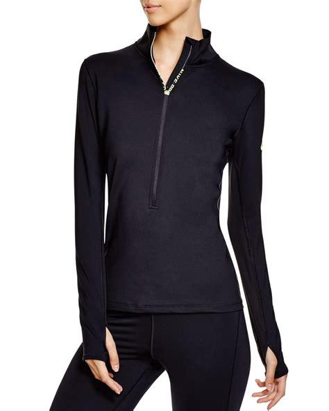 Nike Zipper Jaket lyst nike pro hyperwarm max half zip jacket in black