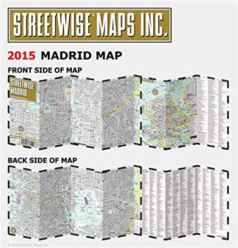 streetwise map laminated city center map of michelin streetwise maps books streetwise madrid map laminated city center map