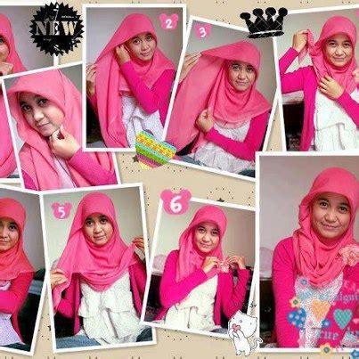 tutorial hijab segi empat untuk anak smp cara memakai jilbab paris yang praktis tutorial hijab