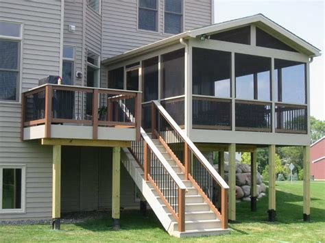 bloombety screened in porch ideas with high stair