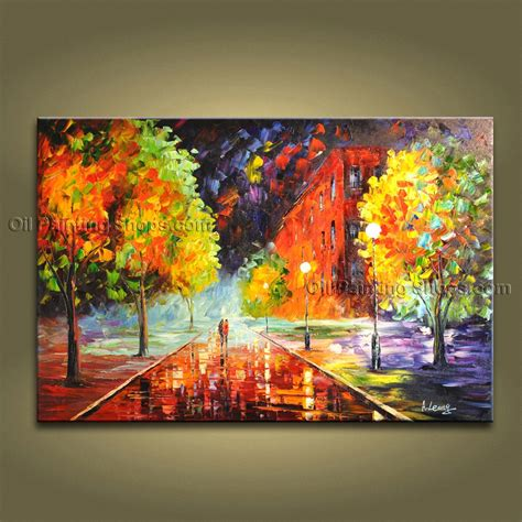 Handmade Paintings On Canvas - handmade amazing contemporary wall landscape painting