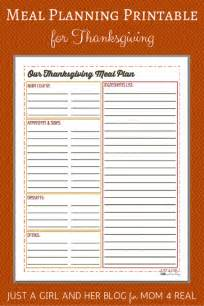 thanksgiving meal planner template thanksgiving menu meal planning free printable mom 4 real