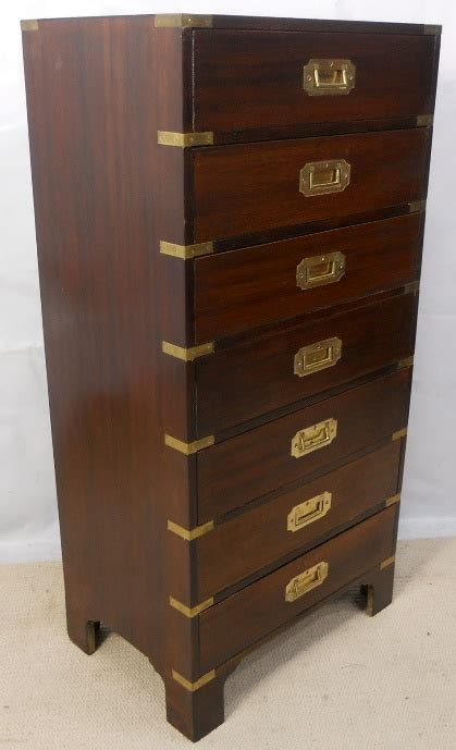 tall shallow chest of drawers antique military style tall narrow chest of drawers sold