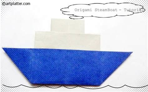 origami steamboat paper steamboat folding instructions art platter