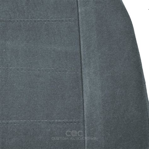 velour auto upholstery fabric seat covers front pair 4pc charcoal encore velour fabric