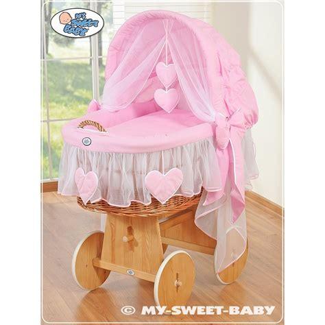 culle neonati in vimini vimini neonato cuori rosa