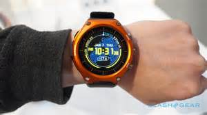 Rugged Lcd Casio Android Wear Watch Hands On Rugged And Huge Slashgear