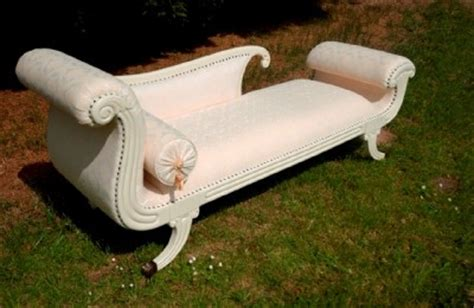 white shabby chic chaise lounge shabby chic white chaise longue day bed sofa ebay