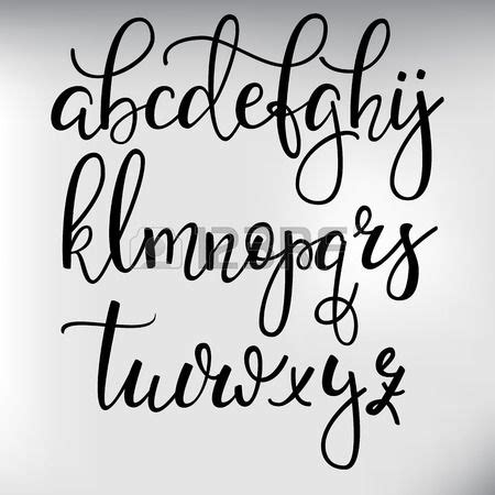 printed calligraphy fonts style de pinceau handwritten police calligraphie cursive