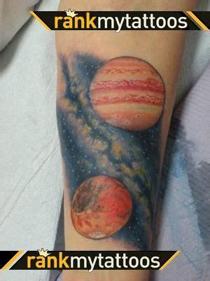 milky way tattoo designs jupiter mars and way ideas