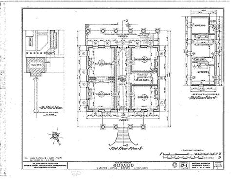 historical floor plans the architecture of rosalie mississippi history now