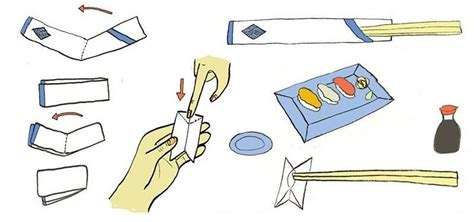 Chopsticks Rest how to fold a chopsticks rest from its paper wrapper 171 the