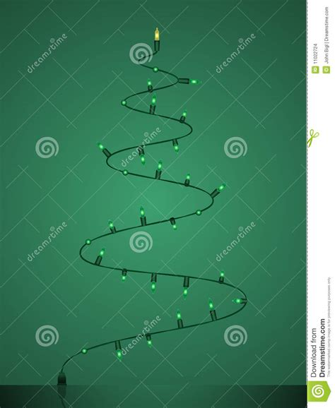 christmas tree light timer light string christmas tree stock vector image 11022724