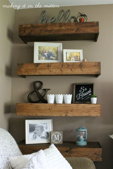 top 25 best diy wood shelves ideas on