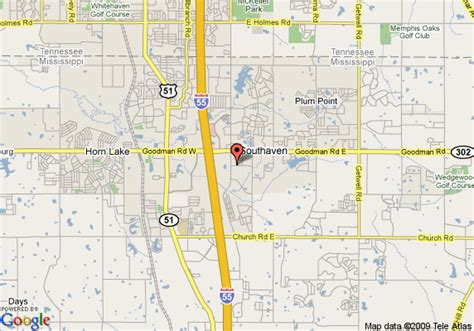 map of holiday inn memphis southaven southaven